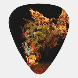 Phoenix Flower Guitar Pick