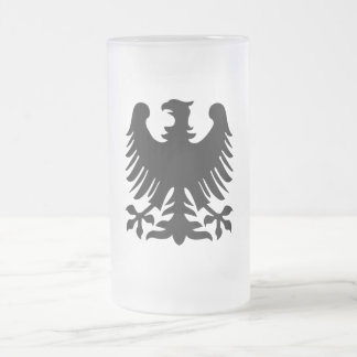 Phoenix Frosted Glass Beer Mug