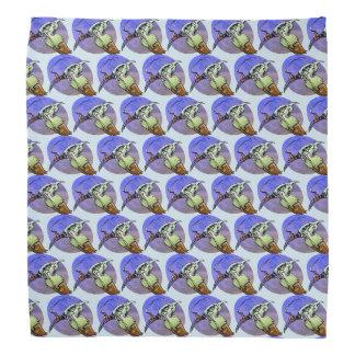 phoenix futuristic bird cartoon style illustration bandana