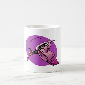 phoenix futuristic bird cartoon style illustration coffee mug