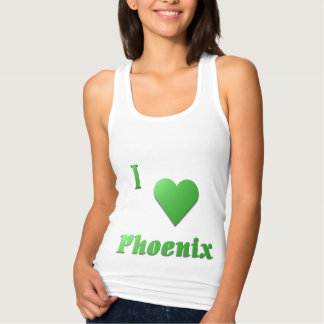 Phoenix -- Kelly Green Tank Top