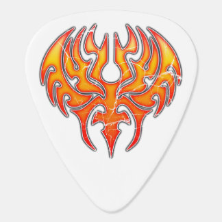 Phoenix Reborn Custom Guitar Pick (worn)