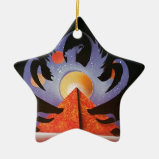 Phoenix Rising Ceramic Star Ornament