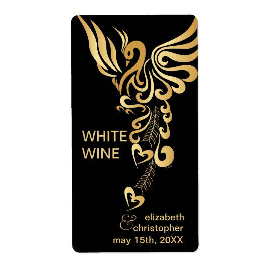 Phoenix Rising Custom Wedding Wine Labels