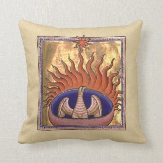 Phoenix Rising from the Ashes Throw Pillow