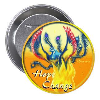 Phoenix Rising ~ Hope & Change 3 Inch Round Button