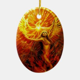 Phoenix Rising Ornament by Lisa Iris