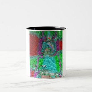 Phoenix Rising Two-Tone Coffee Mug