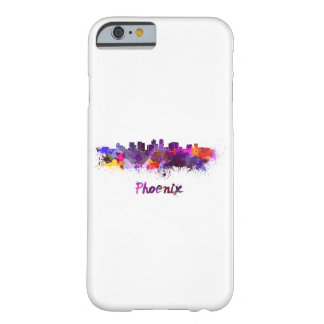 Phoenix skyline in watercolor barely there iPhone 6 case