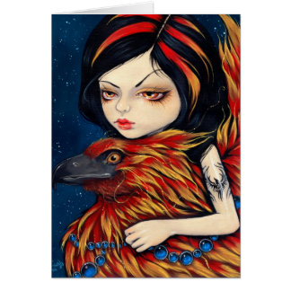 """Phoenix Tattoo"" Greeting Card"