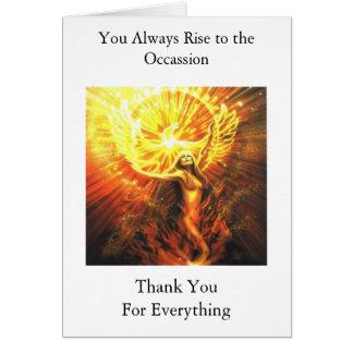 Phoenix Thank You Card