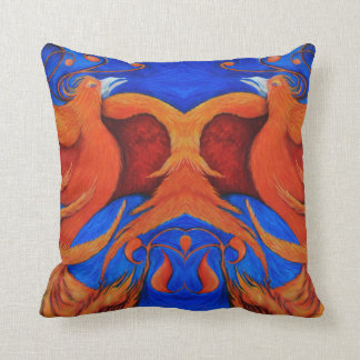 Phoenix throw pillow