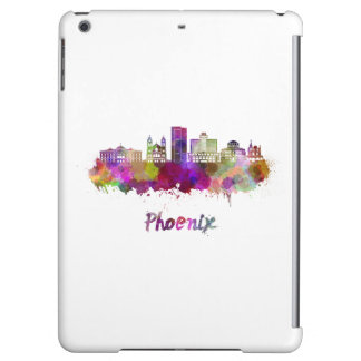 Phoenix V2 skyline in watercolor iPad Air Covers