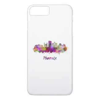 Phoenix V2 skyline in watercolor iPhone 8 Plus/7 Plus Case