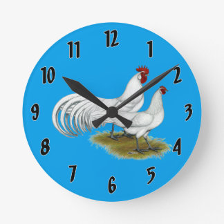 Phoenix:  White Pair Round Clock