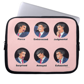 Phoenix Wright Emoticons Laptop Sleeve