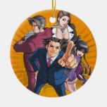 Phoenix Wright Key Art Christmas Ornament