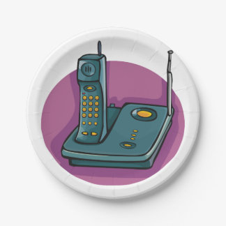 Phone And Answering Machine Paper Plates 7 Inch Paper Plate