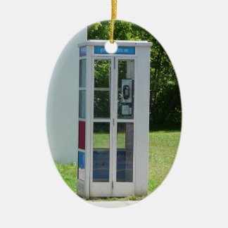 Phone Booth Ceramic Ornament