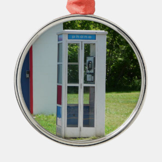 Phone Booth Metal Ornament