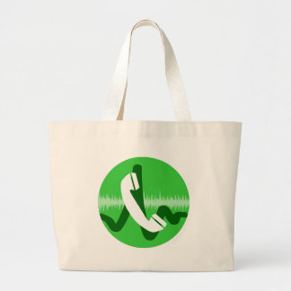 Phone Call Icon Large Tote Bag