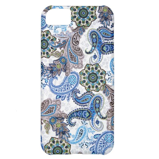 phone case-blue paisley-Blackberry-Samsung Case For iPhone 5C