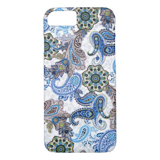 phone case-blue paisley-Blackberry-Samsung iPhone 7 Case