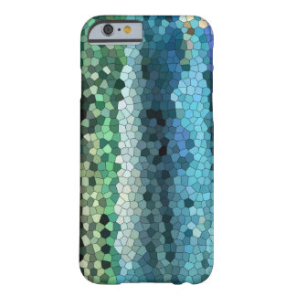phone case blue-teal- mosaic-blackberry-iphone barely there iPhone 6 case