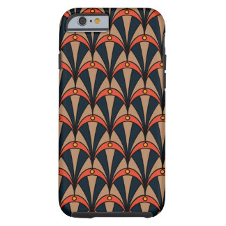 Phone case in Art Deco style and earthy colours