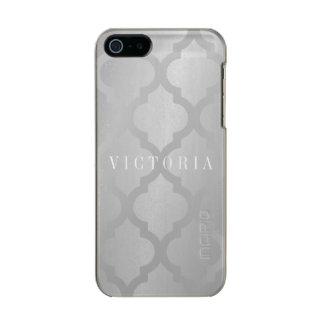 Phone Case - Lattice Silver Name