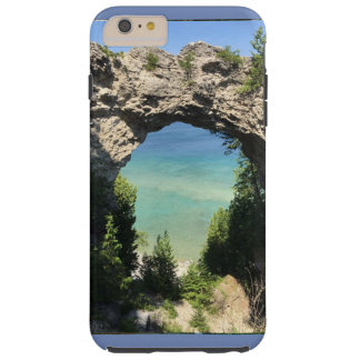 phone case photo of ocean and cliff