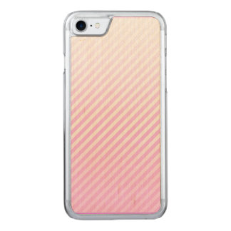 Phone case -- pink striped background