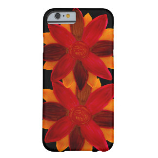 Phone case red flowers