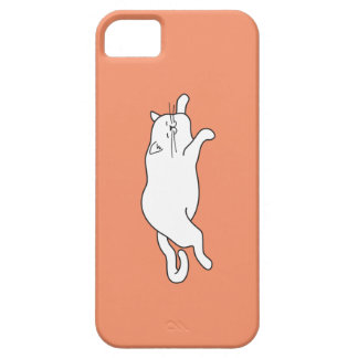 phone case with a fat cat on it