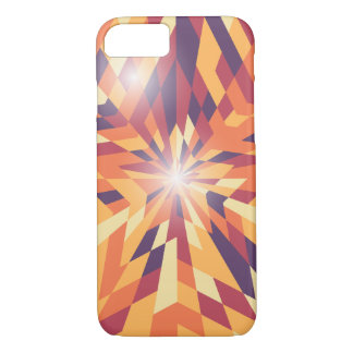 Phone case with a shiny star illustration.