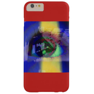 Phone case with graphic design of an eye