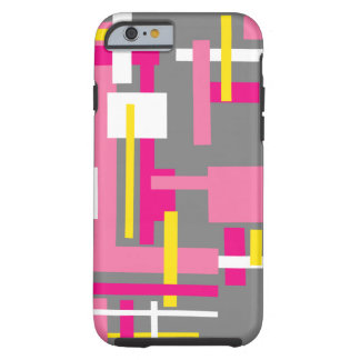 Phone Case with pink grey blocks