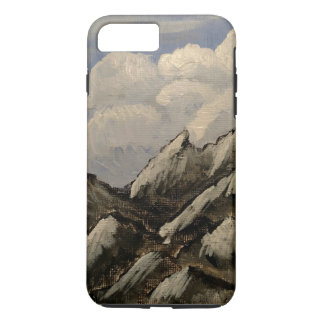 Phone case with snow-capped mountains