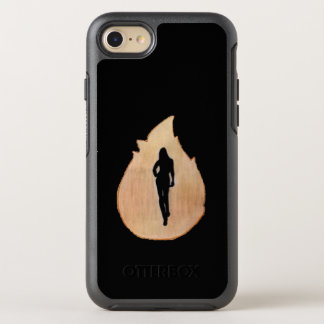 Phone case with woman walking through fire