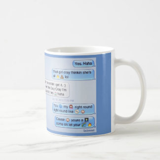 phone conversation coffee mug