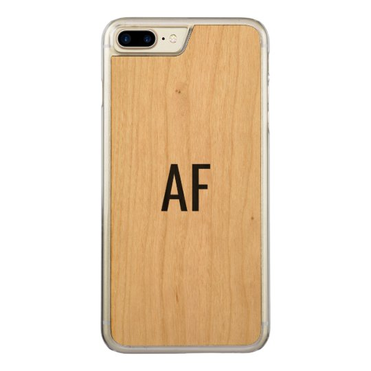 Phone Cover Wooden Monogram