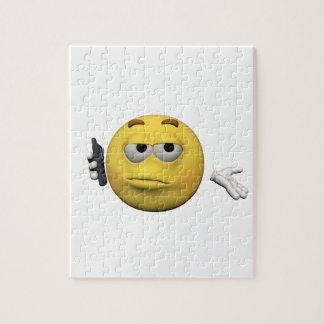 Phone emoticon jigsaw puzzle
