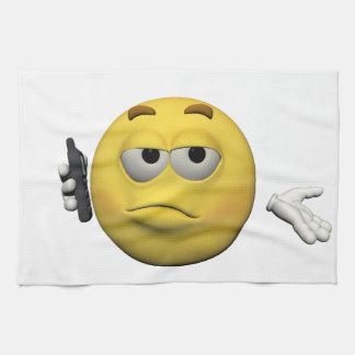 Phone emoticon kitchen towel