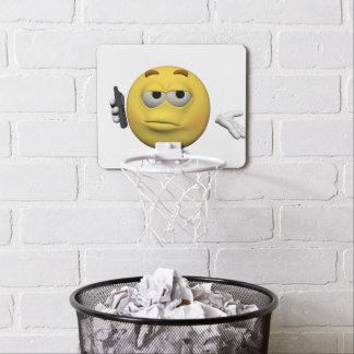 Phone emoticon mini basketball hoop