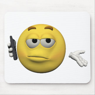 Phone emoticon mouse pad