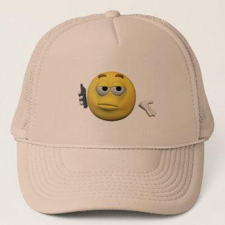 Phone emoticon trucker hat