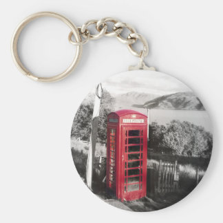 Phone Home Basic Round Button Keychain