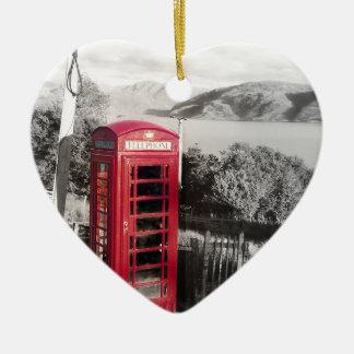 Phone Home Ceramic Heart Ornament