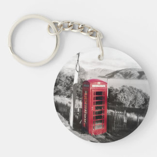Phone Home Single-Sided Round Acrylic Keychain