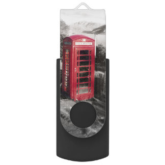Phone Home Swivel USB 2.0 Flash Drive